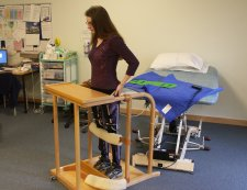 Standing therapy at physio.